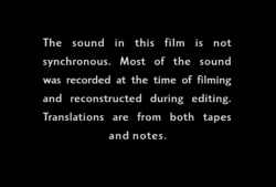 A rite of passage (John Marshall, 1972)