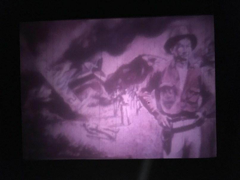 Figura 9. Animación de Sandino. Carrasco, Monimbó es Nicaragua, 1981, México. [Fotograma Archivo ENAC (CUEC)]