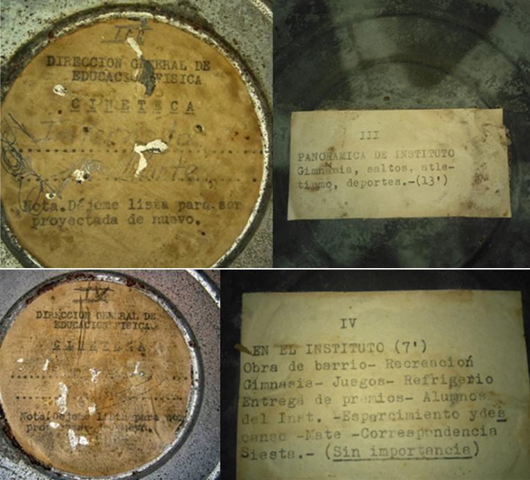 Figura 3. Frente y dorso de las latas n° III y nº IV perteneciente al MuBAH.