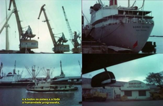 Figura 3 – El puerto de Haiphong. Fuente: Fotogramas de la película.