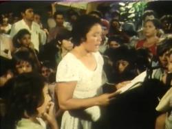 Clara Chavarría participa de la vida política