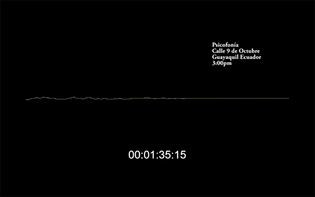 Figura 13. La representación de la intensidad de la señal de sonido en el tiempo en la imagen psicofónica