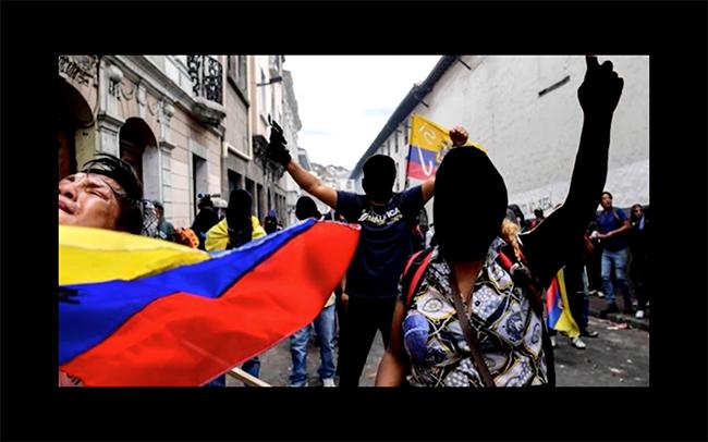 Figura 20. La imagen-poema como desborramiento de los rostros de los manifestantes del Paro Nacional