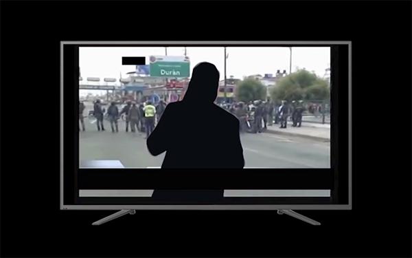 Figura 2. Borramiento del sistema de connotaciones ideológicas textuales y visuales de la televisión ecuatoriana