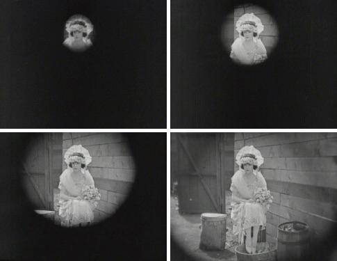 Figura 8. El cierre del círculo del iris shot. Imágenes tomadas de Cruz Henriques (2005: 18)