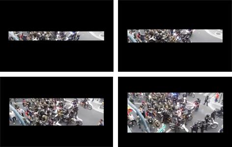 Figura 9. La imagen-apertura de la violencia entre los policías y los militares