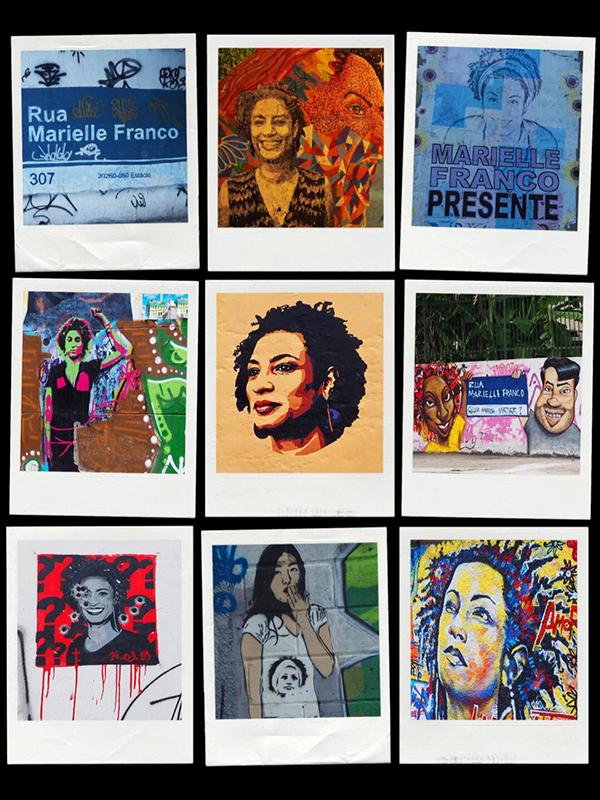 Fig. 10. Collage de diversos graffitis en las calles de Río de Janeiro